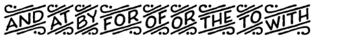 Charcuterie Catchwords Font UPPERCASE
