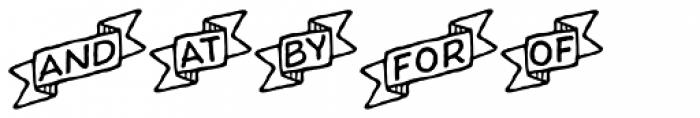 Charcuterie Catchwords Font LOWERCASE