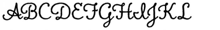 Charcuterie Cursive Basic Font UPPERCASE