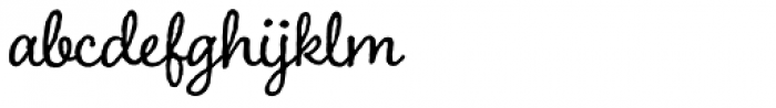 Charcuterie Cursive Basic Font LOWERCASE