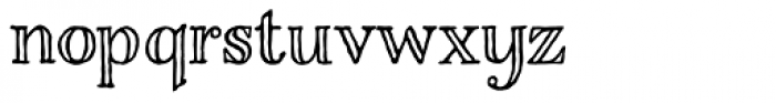 Charcuterie Engraved Basic Font LOWERCASE