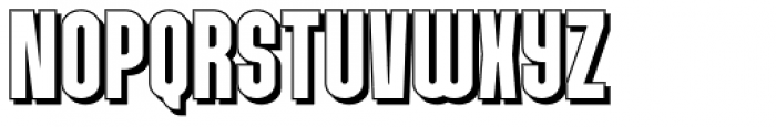Chargeback Shadow Font LOWERCASE