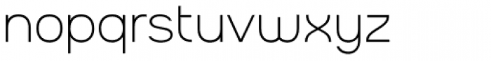 Charifa Sans Thin Font LOWERCASE