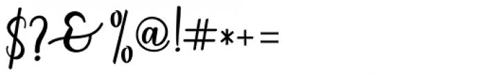 Charlinda Regular Font OTHER CHARS