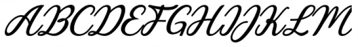 Charline Italic Font UPPERCASE