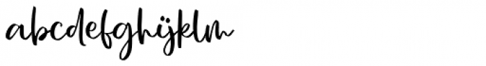 Charme Script Font LOWERCASE