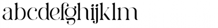 Charmini Thin Font LOWERCASE