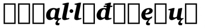 Charter Extension Black Italic Font LOWERCASE