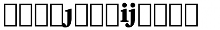 Charter Extension Black Font LOWERCASE