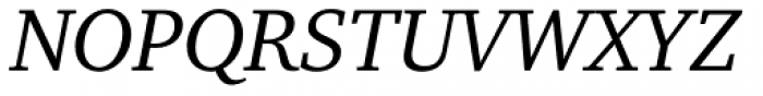 Charter Pro Italic Font UPPERCASE