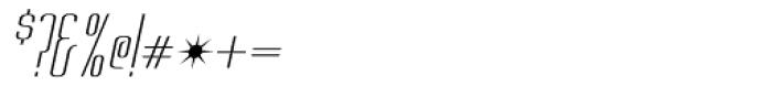Chasline Oblique Font OTHER CHARS