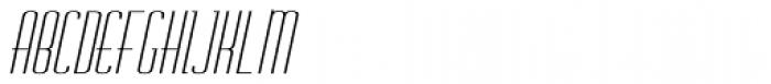 Chasline Oblique Font UPPERCASE