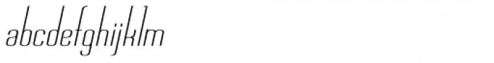 Chasline Oblique Font LOWERCASE
