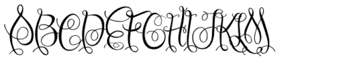Chattelyne Regular Font UPPERCASE