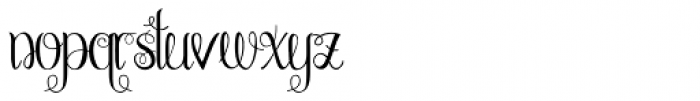Chattelyne Regular Font LOWERCASE