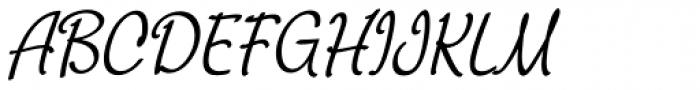 Chatter Condensed Oblique Font UPPERCASE