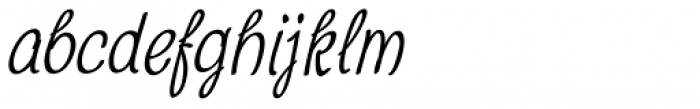 Chatter Condensed Oblique Font LOWERCASE