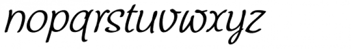 Chatter Oblique Font LOWERCASE