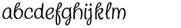 Chatter Font LOWERCASE