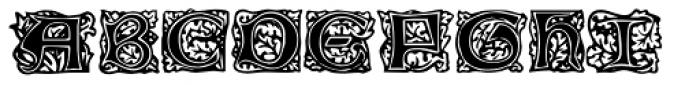 Chaucerian Initials Font UPPERCASE