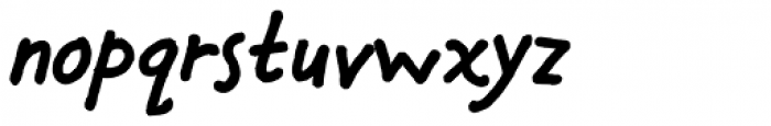 Chauncy Pro Bold Italic Font LOWERCASE