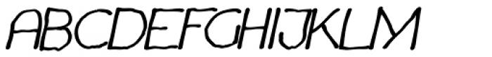 Chavenir Bold Italic Font UPPERCASE