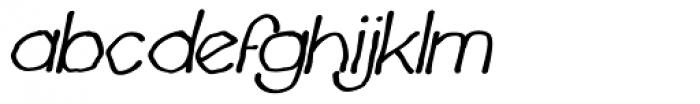 Chavenir Bold Italic Font LOWERCASE