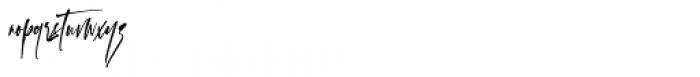 Checkmark Regular Font LOWERCASE
