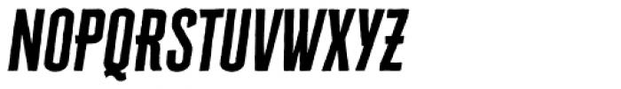 Cheddar Gothic Sans Italic Font UPPERCASE