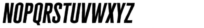 Cheddar Gothic Sans Italic Font LOWERCASE