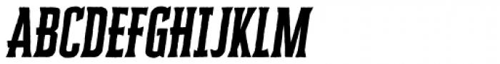 Cheddar Gothic Serif Italic Font UPPERCASE