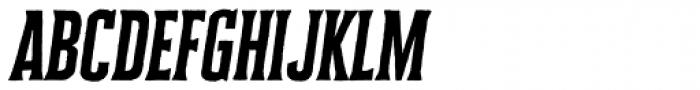 Cheddar Gothic Serif Italic Font LOWERCASE