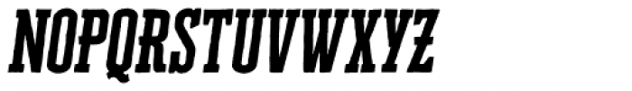 Cheddar Gothic Slab Italic Font UPPERCASE