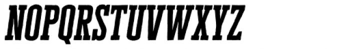 Cheddar Gothic Slab Italic Font LOWERCASE