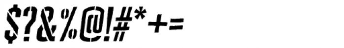 Cheddar Gothic Stencil Italic Font OTHER CHARS
