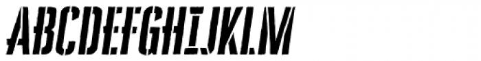 Cheddar Gothic Stencil Italic Font UPPERCASE