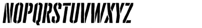 Cheddar Gothic Stencil Italic Font LOWERCASE