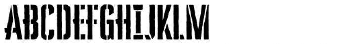 Cheddar Gothic Stencil Font UPPERCASE