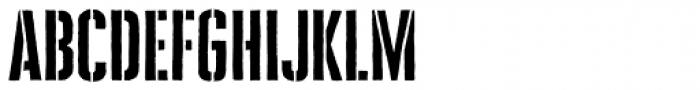Cheddar Gothic Stencil Font LOWERCASE