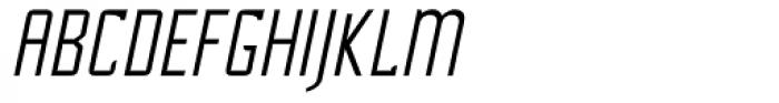Cheek PT Light Oblique Font UPPERCASE