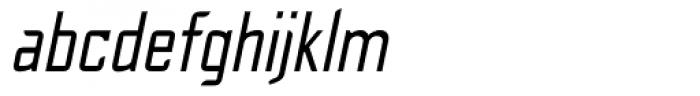 Cheek PT Regular Oblique Font LOWERCASE