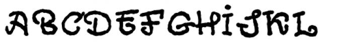 Cheeky Git Font UPPERCASE
