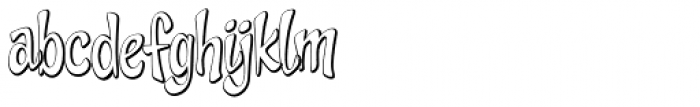 Cheeky Monkey Outline Font LOWERCASE