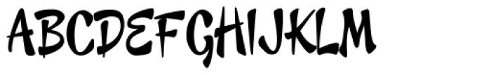 Cheeky Monkey Font UPPERCASE