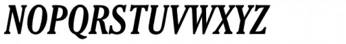 Cheltenham Bold Condensed Italic Font UPPERCASE