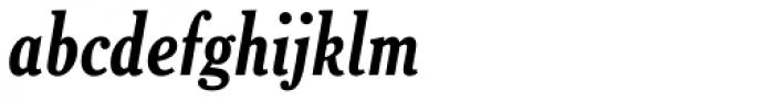 Cheltenham Bold Condensed Italic Font LOWERCASE