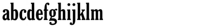 Cheltenham Bold Extra Condensed Font LOWERCASE