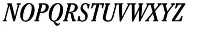 Cheltenham Cond Book Italic Font UPPERCASE