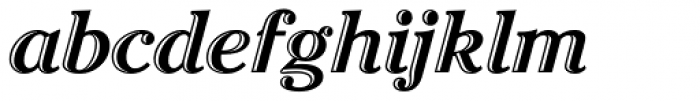 Cheltenham Handtooled Italic Font LOWERCASE