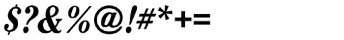 Cheltenham Pro Condensed Bold Italic Font OTHER CHARS